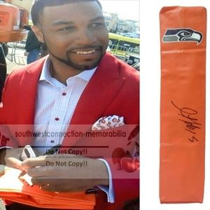 Golden Tate Signed Seattle Seahawks Football Pylon
